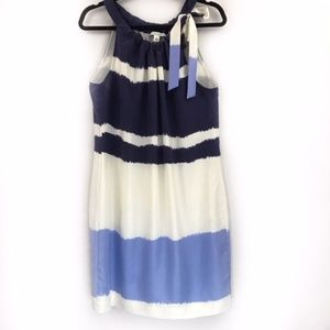 Banana Republic Silk Blue colorblock dress size 12